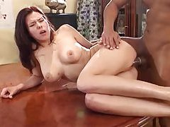 Titfuck after a great interracial plugging tubes