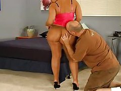 Chick lets him fuck her pantyhose tubes