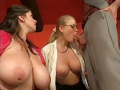 Business man fucks two big titty coworkers tubes