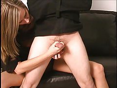 Handjob and prostate fingering for lucky guy tubes