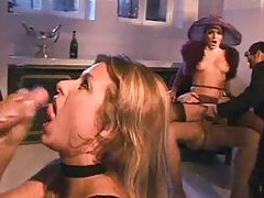 Girls jack their men to orgasm tubes