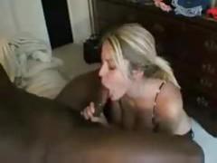 Cute blonde amateur sucks black cock tubes