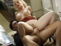 Hot busty blonde and her anal sex lover tubes