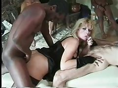 Massive tits on blonde doing a gangbang tubes