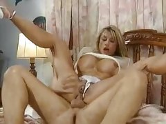 The blonde mature is bodacious and loves cock tubes