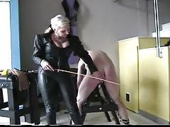 Leather mistress abusing man tubes