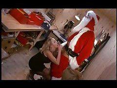 Santa bones her naughty pussy hole tubes