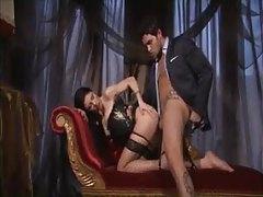 Girl in smoking hot corset has anal sex tubes