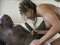 Black cock is monstrous and fucks her ass tubes