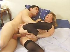 Anal hardcore for a chick in sexy stockings tube