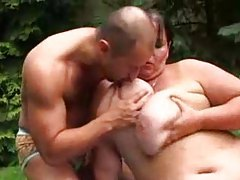 Fat girl in the grass fucked by a stud tubes