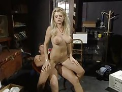 Blonde fucked in a storage room tubes