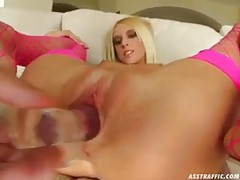 Adorable and skinny blonde has ass savaged tubes