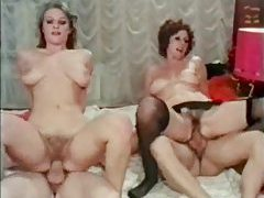 Retro group scene with creampies tubes