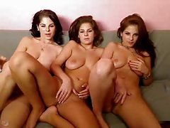 Naked triplets do a webcam show tubes