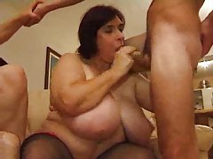 Fat mature chicks orgy with young guy tubes