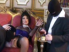 Ultra glamorous slut fucked by masked men tube
