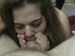 Babe bobs up and down on the cock tubes