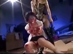 Chick covered in hot wax and whipped by mistress tubes