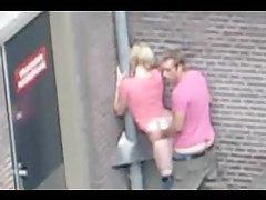 Couple has public sex on a city street tubes