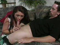 Seductive older woman gets inside his pants tubes