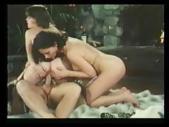 Glamorous threesome in classic porn movie tubes