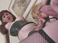 Two hot shemales get together for oral and masturbation tube