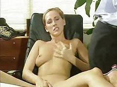 Two secretaries playing with big dick office dude tubes