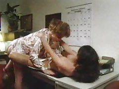 Milf teachers going lesbian in classic scene tubes