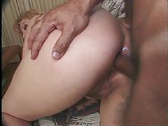 Cougar taking two hard black cocks are hot tubes