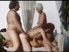 Group scene from a classic porn movie tube