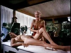 Fun classic scene with massage and threesome tubes