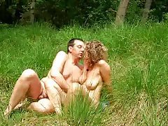 Nude old couple fucking in the field tubes