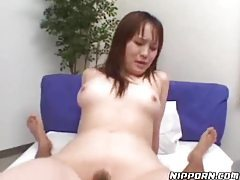 Asian hairy pussy girl sucking and fucking tubes