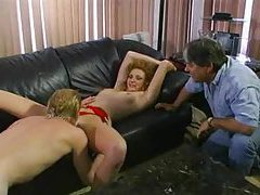 Husband watches wife take anal hardcore tubes