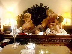 Lesbian threesome with the maid included tube