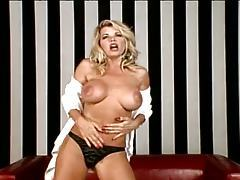 Girl with great tits doing a gorgeous striptease tubes