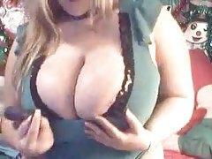 Wicked big tits in front of the camera tubes