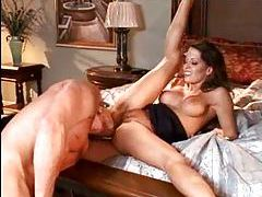 Sexy big tit stewardess goes home to fuck tubes