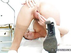 Skinny nurse with a hairy pussy tubes