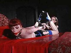Lesbian latex fetish domination with hotties tubes