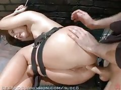 Hard spanking, bondage, and anal sex tubes