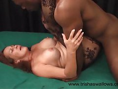 Black man fucks chick in hot body stocking tubes