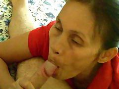 A mature Asian gives a blowjob tubes