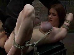 Big tits redhead tied up tight tubes