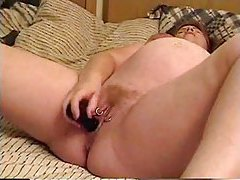 Pregnant girl masturbates in bed tubes