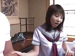 He hard fucks a cute Japanese slut tubes