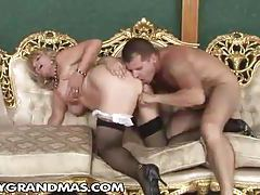 Chubby granny finds his young cock hot tubes