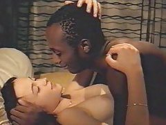 Black man and slender cute white chick tubes