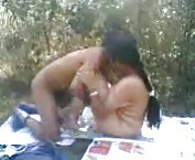 Indian chick fucked in a field tubes